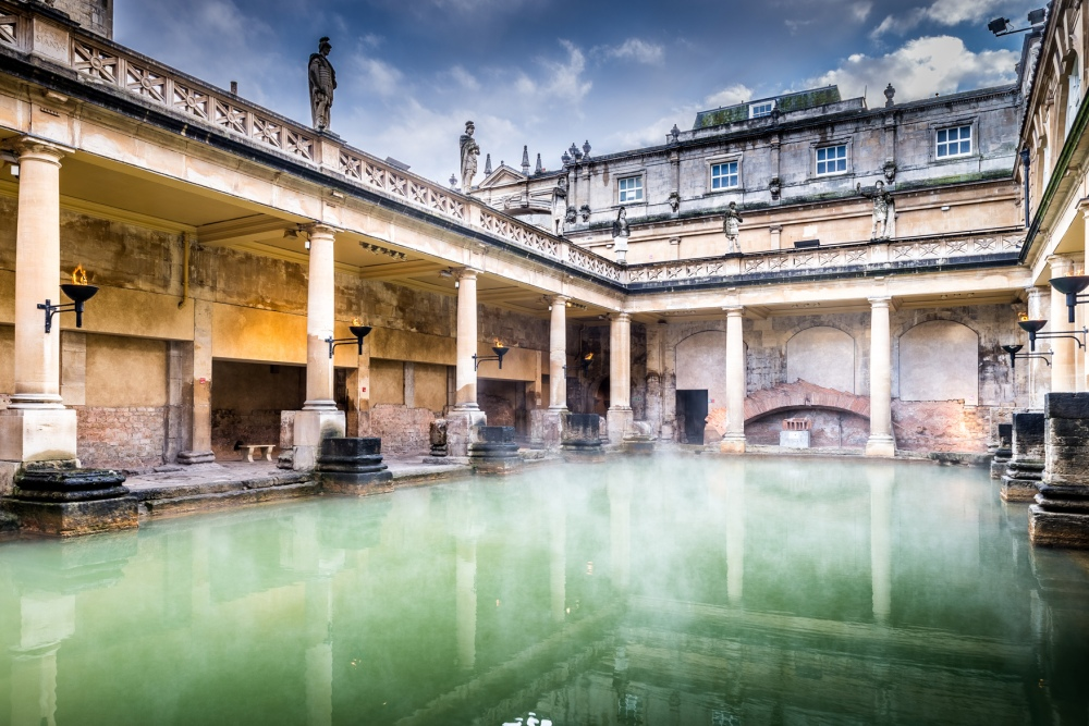 Great Bath steam rising med